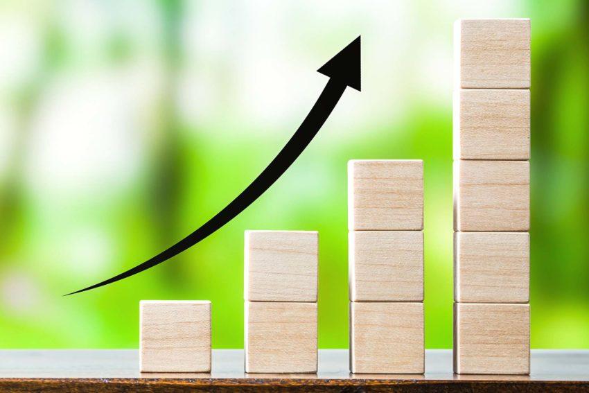 Growth Chart with Arrow